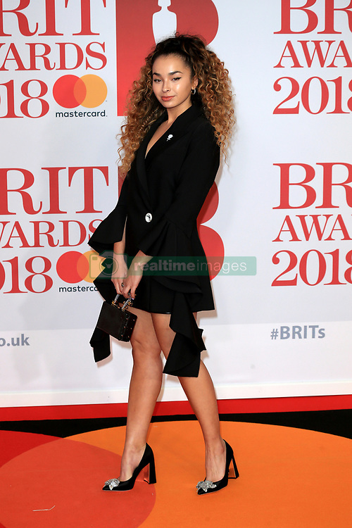 attends the Brit Awards at the O2 Arena in London, UK. 21 Feb 2018 Pictured: Ella Eyre. Photo credit: MEGA TheMegaAgency.com +1 888 505 6342