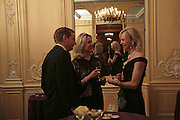 Earl  of Derby, Mrs. Arnaud Bamberger and the Countess of Derby, Cartier Racing Awards , Four Seasons Hotel, Hamilton Place, London, W1, 15 November 2006. ONE TIME USE ONLY - DO NOT ARCHIVE  © Copyright Photograph by Dafydd Jones 66 Stockwell Park Rd. London SW9 0DA Tel 020 7733 0108 www.dafjones.com