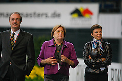 Dr. Vincenzo Truppa (ITA), Mariette Withages (BEL), Maribell Alonso de Quinzanos (MEX)<br /> CDI-W Stuttgart German Masters 2009<br /> Photo© Dirk Caremans