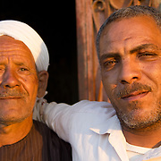 Two friends in the evening sun. Dahab Island, Cairo.