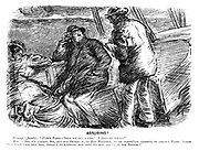 """Assuring! Passenger (faintly). """"C'lect fares- 'fore we get across! I thought we- """" Mate. """"Beg y'r pardon, sir, but our orders is, in bad weather, to be partic'lar careful to collect fares, 'cause in a gale like this 'ere, there's no knowing how soon we may all go to the bottom!"""""""