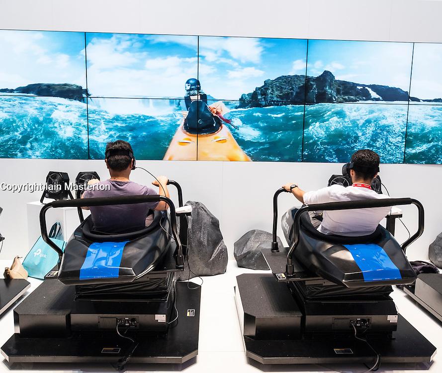 Samsung, virtual reality 3D rides at Samsung stand at 2016  IFA (Internationale Funkausstellung Berlin), Berlin, Germany