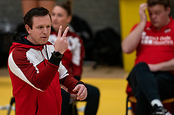 Coach Bart Oosting of Apollo 8 in action during the first league match between Laudame Financials VCN vs. Apollo 8 on February 06, 2021 in Capelle aan de IJssel.