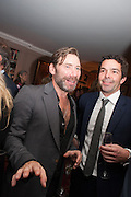 MAT COLLISHAW; ELLIOT MACDONALD, Dinner to celebrate the opening of Pace London at  members club 6 Burlington Gdns. The dinner followed the Private View of the exhibition Rothko/Sugimoto: Dark Paintings and Seascapes.