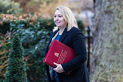 London, December 19 2017. Secretary of State for Culture, Media and Sport Karen Bradley arrives at 10 Downing Street for the last cabinet meeting before the Christmas break. © Paul Davey