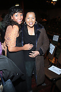 l to r: Vanessa Bronfman and her mother, Sherry Bronfman at the Dr. Barbara Ann Teer's Institute of Action Arts launch for the 41st  Communication Arts Program Symposium held at The National Black Theater in Harlem, NY on March 27, 2009