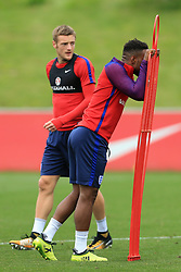 29th August 2017 - 2018 FIFA World Cup Qualifying (Group F) - England Training - Jermain Defoe (R) and Jamie Vardy - Photo: Simon Stacpoole / Offside.