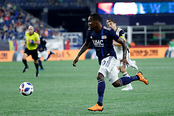 August 11, 2018 - Foxborough, MA, U.S. - FOXBOROUGH, MA - AUGUST 11: New England Revolution forward Cristian Penilla (70) breaks into the box during an MLS match between the New England Revolution and the Philadelphia Union on August 11, 2018, at Gillette Stadium in Foxborough, Massachusetts. The Union defeated the Revolution 3-2. (Photo by Fred Kfoury III/Icon Sportswire) (Credit Image: © Fred Kfoury Iii/Icon SMI via ZUMA Press)