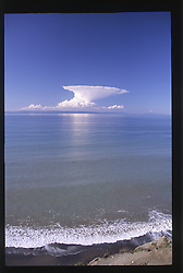 Strange Cloud Over Mt. Baker and the Strait of Juan de Fuca, Olympic Peninsula, Washington, US