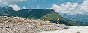 Zwei Bergwanderer in das Ochsental