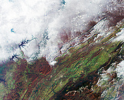 A snowstorm which swept across the eastern United States on December 4 and 5. December 7, 2002. Satellite image.