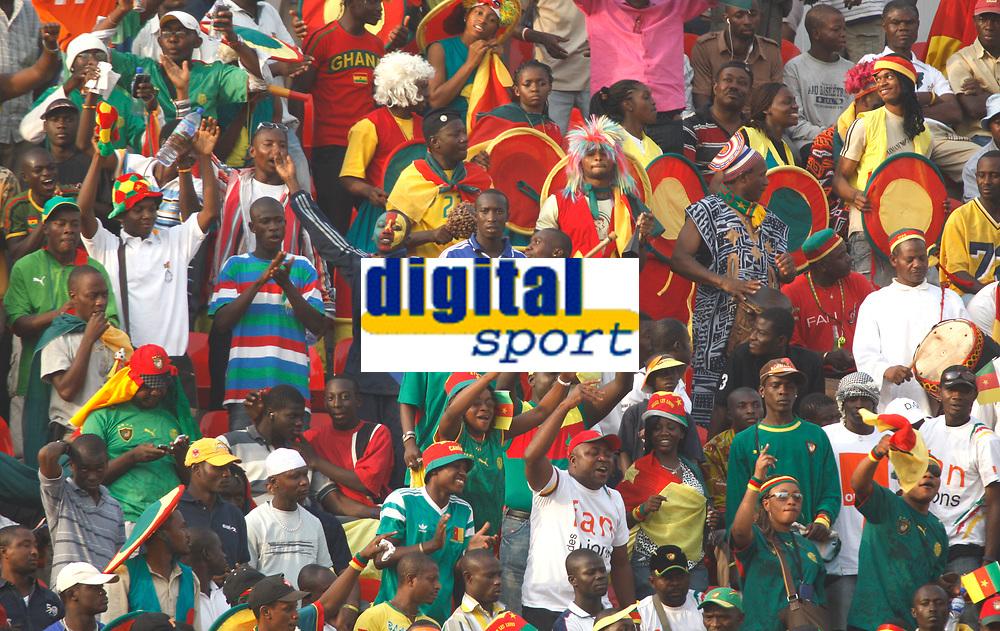 Photo: Steve Bond/Richard Lane Photography.<br />Egypt v Cameroun. Africa Cup of Nations. 22/01/2008. Cameroon fans