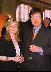 MISS CHRISTIAN RUCKER founder and M/D of The White Company and MR NICK WHEELER, at a reception in London on 29th April 1998.MHF 7