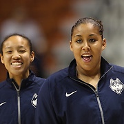 Kaleena Mosqueda-Lewis, UConn, during warm up before the UConn Huskies Vs USF Bulls Basketball Final game at the American Athletic Conference Women's College Basketball Championships 2015 at Mohegan Sun Arena, Uncasville, Connecticut, USA. 9th March 2015. Photo Tim Clayton