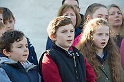 28/03/2016 Local Choir pictured at Pearse's Cottage, Teach an Phiarsaigh, in Rosmuc in Connemara during a special broadcast of RTÉ Raidió na Gaeltachta programme Adhmhaidin on Easter Monday 28 March 2016.  <br /> <br /> Patrick Pearse used the cottage as a summer house, and also as summer school for his pupils from St Enda's school in Dublin.  He was inspired by the people and the culture of the area, and it is said that he composed the graveside oration he gave at O'Donovan Rossa's funeral in 1915 there.<br /> <br /> The broadcast was to commemorate the centenary of the Easter Rising, and also marked 30 years on air for the programme.  <br /> Photo:Andrew Downes, xposure.