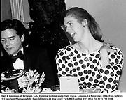 Earl & Countess of Verulam. Gala Evening fashion show. Cafe Royal. London. 12 November 1986. Film 86945f3<br />© Copyright Photograph by Dafydd Jones  66 Stockwell Park Rd. London SW9 0DA Tel 0171 733 0108