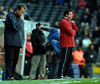 Photo: Alan Crowhurst.<br />Fulham v West Ham United. The Barclays Premiership. 23/12/2006. West Ham coach Alan Curbishley (L).