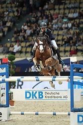 Kreuzer Andreas, (GER), Jumex Sport Atlantus<br /> DKB-Riders Tour<br /> Grand Prix Kreditbank Jumping München 2015<br /> © Hippo Foto - Stefan Lafrentz