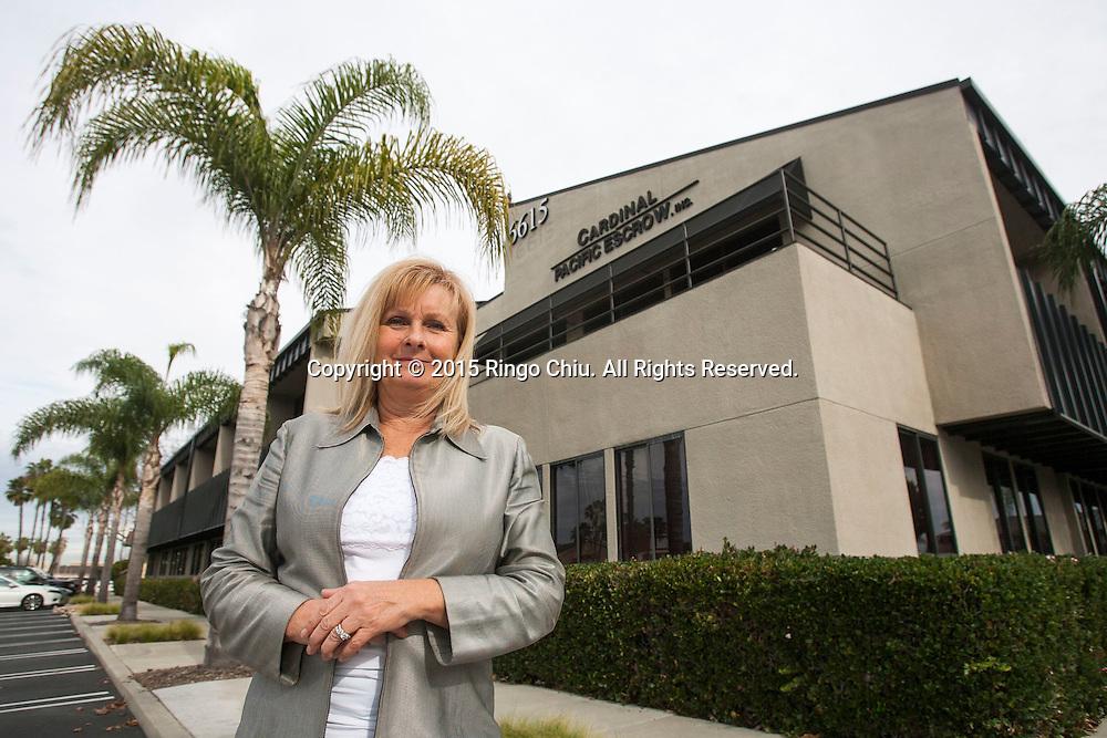 Nancy Glass, owner, Cardinal Pacific Escrow in Long Beach.<br /> (Photo by Ringo Chiu/PHOTOFORMULA.com)