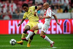 25-04-2010 VOETBAL: AJAX - FEYENOORD: AMSTERDAM<br /> De eerste wedstrijd in de bekerfinale is gewonnen door Ajax met 2-0 / Lereoy Fer en Demy de Zeeuw<br /> ©2009-WWW.FOTOHOOGENDOORN.NL