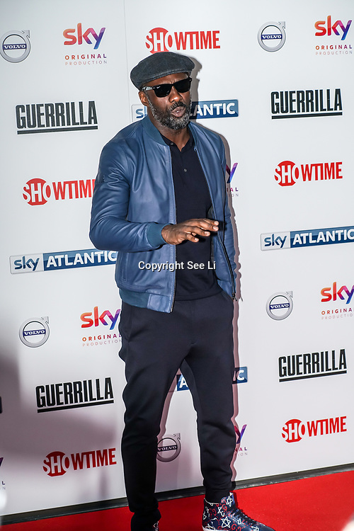 London,England,UK. 6th April, 2017. Idris Elba attends the UK premiere of Sky Original Production Guerrilla at The Curzon,Bloomsbury,London,UK. by See Li