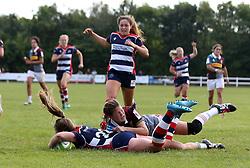 Chantelle Miell of Bristol Ladies scores a try - Mandatory by-line: Robbie Stephenson/JMP - 18/09/2016 - RUGBY - Cleve RFC - Bristol, England - Bristol Ladies Rugby v Aylesford Bulls Ladies - RFU Women's Premiership