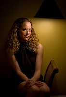 Author and academic Katie Roiphe poses for a portrait in her Brooklyn, NY home. May 21, 2008. Photographer: Robert Caplin/Rapport Press
