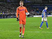 Football - 2019 / 2020 Emirates FA Cup - Fourth Round, Replay: Cardiff City vs. Reading<br /> <br /> Sam Walker of Reading celebrates after saving a penalty from Flint of Cardiff , at the Cardiff City Stadium.<br /> <br /> COLORSPORT/WINSTON BYNORTH