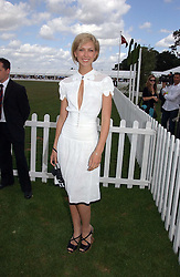 Actress MARGO STILLEY at the Cartier International polo at Guards Polo Club, Windsor Great Park, on 30th July 2006.<br />