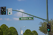 Glendora Ave Street Sign in Downtown Glendora