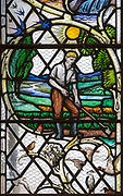Stained glass window by A.E. Buss 1979, church of Saint Matthew, Rushall, Wiltshire, England, UK