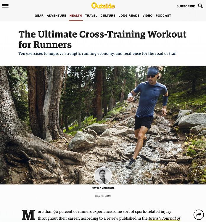 Outside: The Ultimate Cross-Training Workout for Runners (23 September 2019)