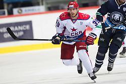 Jan Mursak of CSKA Moscow during KHL League ice hockey match between KHL Medvescak Zagreb and CSKA Moscow, on September 18, 2014 in Dvorana Sportova, Zagreb, Croatia. (Photo By Matic Klansek Velej / Sportida)