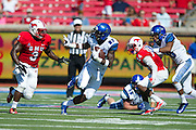 DALLAS, TX - OCTOBER 25:  Tevin Jones #87 of the Memphis Tigers breaks free against the SMU Mustangs during the 1st quarter on October 25, 2014 at Gerald J. Ford Stadium in Dallas, Texas.  (Photo by Cooper Neill/Getty Images) *** Local Caption *** Tevin Jones