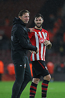 Football - 2018 / 2019 Premier League - Southampton vs. Arsenal<br /> <br /> Southampton Manager Ralph Hasenhuttl with Southampton's Charlie Austin after the final whistle at St Mary's Stadium Southampton<br /> <br /> COLORSPORT/SHAUN BOGGUST