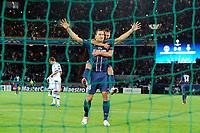 FOOTBALL - UEFA CHAMPIONS LEAGUE 2012/2013 - GROUP STAGE - GROUP A - PARIS SAINT GERMAIN v DYNAMO KIEV - 18/09/2012 - PHOTO JEAN MARIE HERVIO / REGAMEDIA / DPPI - JOY ZLATAN IBRAHIMOVIC (PSG) AFTER HIS GOAL WITH MARCO VERRATTI