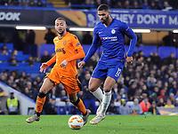 Football - 2018 / 2019 Europa League - Group L: Chelsea vs. PAOK Salonika<br /> <br /> Ruben Loftus - Cheek of Chelsea and Omar El Kaddouri of PAOK at Stamford Bridge.<br /> <br /> COLORSPORT/ANDREW COWIE