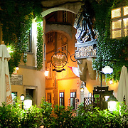 Viennese courtyard by night