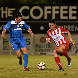 BRISBANE, AUSTRALIA - APRIL 23:  during the round 8 PlayStation 4 National Premier Leagues Queensland Senior Men's match between Olympic FC and SWQ Thunder on April 23, 2017 in Brisbane, Australia. (Photo by Patrick Leigh)