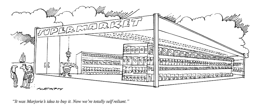 """""""It was Marjorie's idea to buy it. Now we're totally self reliant."""""""