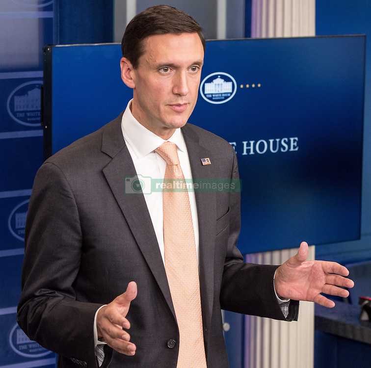 August 31, 2017 - Washington, D.C, United States - White House Homeland Security Advisor Tom Bossert speaks during a daily briefing at the White House in Washington D.C. on Aug. 31, 2017. Bossert spoke on the continued efforts of the administration's help for those affected by Hurricane Harvey. (Credit Image: © Ken Cedeno via ZUMA Wire)