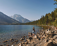 Late Afternoon at Jenny Lake. Image taken with a Nikon D200 camera and 18-75 mm kit lens (ISO 100, 18 mm, f/7.1, 1/200 sec).