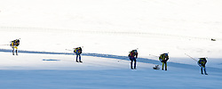 12.12.2010, Biathlonzentrum, Obertilliach, AUT, Biathlon Austriacup, Verfolgung Men, im Bild Feature fom Biathlon in Obertilliach, fünf Biathlethen bei ihrer ersten Runde. EXPA Pictures © 2010, PhotoCredit: EXPA/ J. Groder
