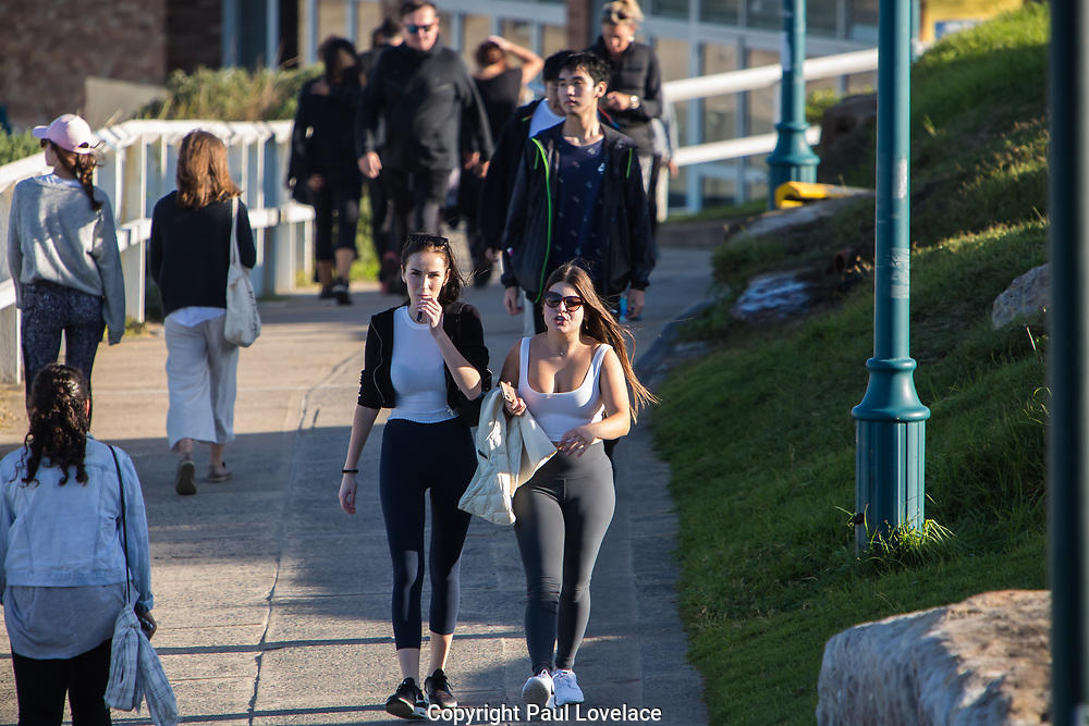 Sydney, Australia. Sunday 3rd May 2020. Coastal walk at Bronte Beach in Sydney's eastern suburbs. Social distancing is still very much in place due to the COVID-19 pandemic.