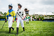 April 29, 2017, 22nd annual Queen's Cup Steeplechase. Jockeys Sean McDermott and Darren Nagle