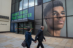 A window display at Coutts' headquarters in the Strand celebrates footballer Marcus Rashford MBE as part of Black History Month on 15th October 2021 in London, United Kingdom. Black History Month, first celebrated in the UK in October 1987, is themed around a 'Proud To Be' campaign for 2021 inspired by the 2020 Black Lives Matter events.