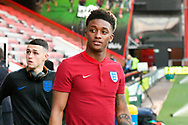 Demari Gray of England U21's arrives at the Vitality Stadium before the U21 International match between England and Germany at the Vitality Stadium, Bournemouth, England on 26 March 2019.