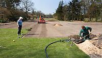HILVERSUM - Veranderingen , oa niewe sprinklers, op de baan van Hilversumsche Golf Club. COPYRIGHT KOEN SUYK