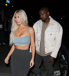 Kim Kardashian shows off her curvy figure as she and Kanye West go to Le petit Restaurant to celebrate Kendall Jenner's 22nd Birthday Party in West Hollywood. 02 Nov 2017 Pictured: Kim Kardashian And Kanye West. Photo credit: MEGA TheMegaAgency.com +1 888 505 6342