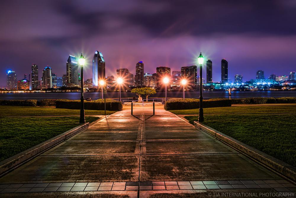 SD Skyline from Centennial Park, Coronado